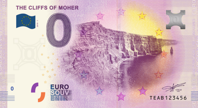 cliffs of moher, cliffs of moher souvenir, cliffs of moher banknote, cliffs of moher image